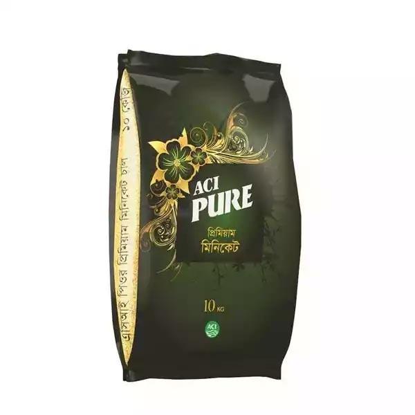 ACI Pure Miniket Rice  এ সি আই পিওর মিনিকেট চাল ১০ কেজি