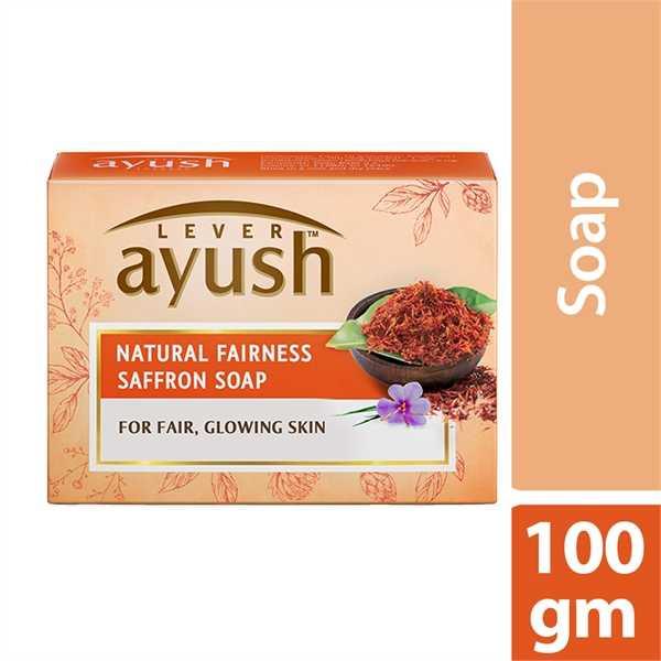 Ayush Soap Bar Natural Fair Saffron 100 gm (আইউস সাবান নেচারেল ফেয়ার সেফরন ১০০ গ্রাম)